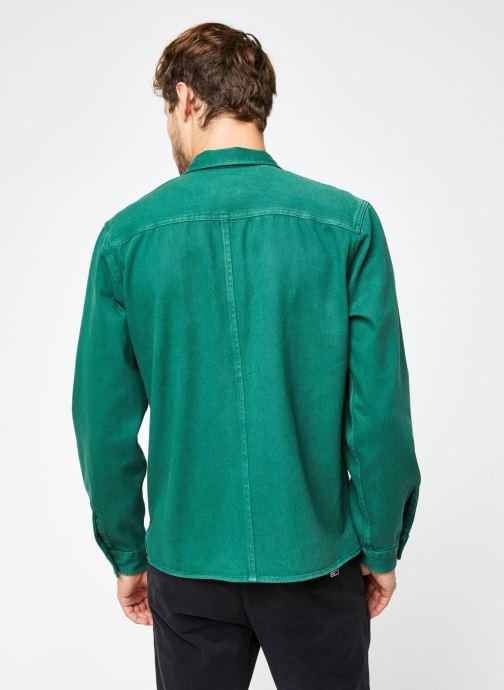 Vêtements Selected Homme Slhloosejace Overshirt Ls W Vert vue portées chaussures