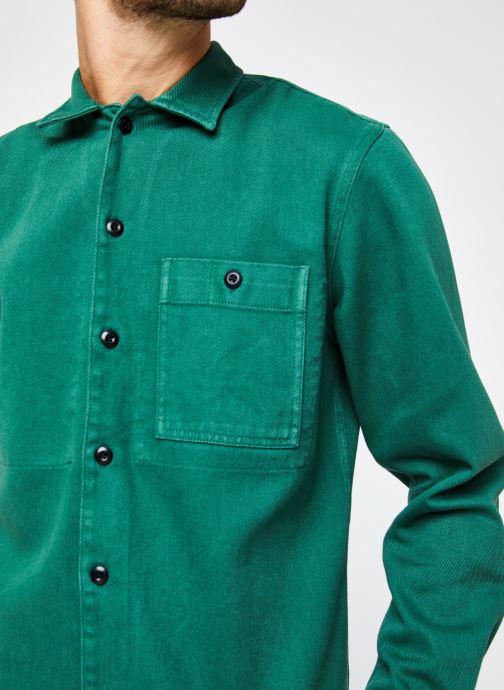 Vêtements Selected Homme Slhloosejace Overshirt Ls W Vert vue face