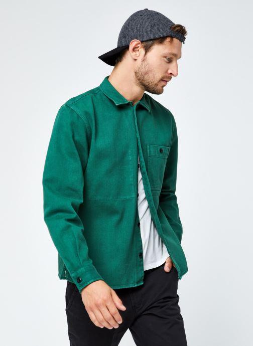 Vêtements Selected Homme Slhloosejace Overshirt Ls W Vert vue détail/paire