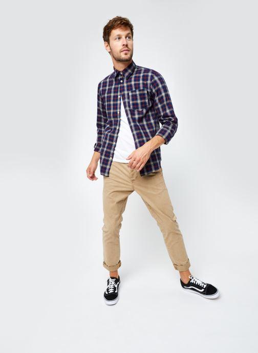 Vêtements Selected Homme Slhregmatthew Shirt Ls Check J Bleu vue bas / vue portée sac
