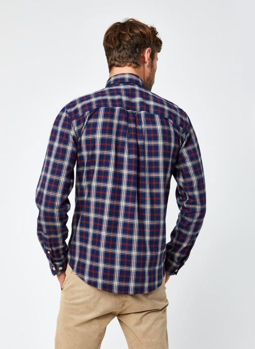 Vêtements Selected Homme Slhregmatthew Shirt Ls Check J Bleu vue portées chaussures