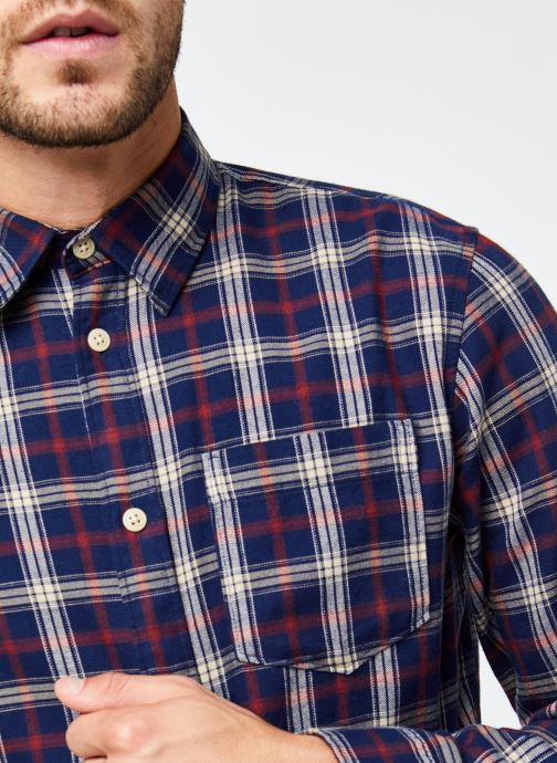 Vêtements Selected Homme Slhregmatthew Shirt Ls Check J Bleu vue face