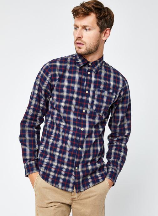 Vêtements Selected Homme Slhregmatthew Shirt Ls Check J Bleu vue droite