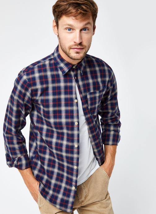 Vêtements Selected Homme Slhregmatthew Shirt Ls Check J Bleu vue détail/paire