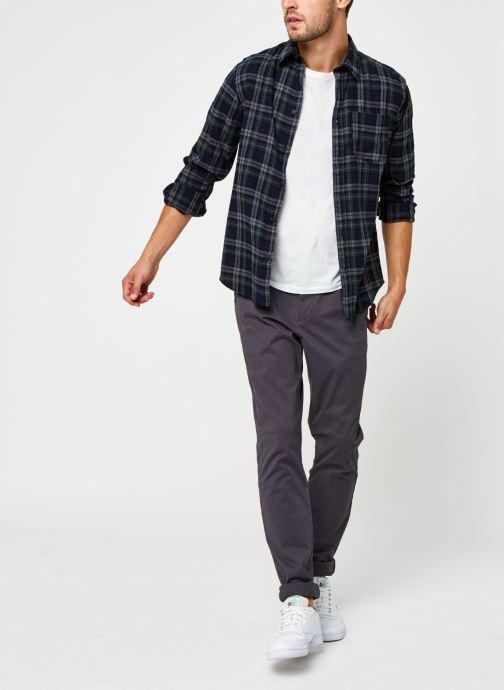 Vêtements Selected Homme Slhregmatthew Shirt Ls Check J Vert vue bas / vue portée sac
