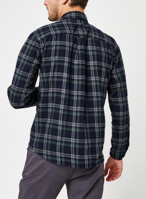 Vêtements Selected Homme Slhregmatthew Shirt Ls Check J Vert vue portées chaussures