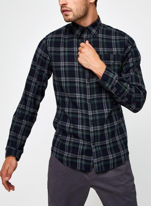 Vêtements Selected Homme Slhregmatthew Shirt Ls Check J Vert vue droite