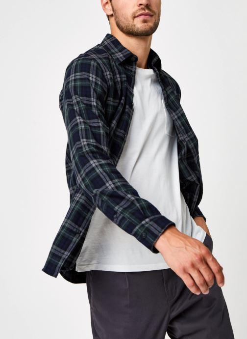 Vêtements Selected Homme Slhregmatthew Shirt Ls Check J Vert vue détail/paire