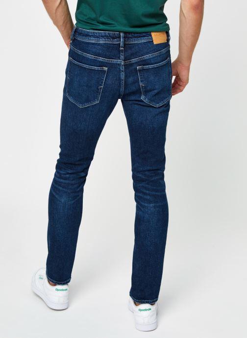Vêtements Selected Homme Slhslim-Leon 3034 Bleu vue portées chaussures