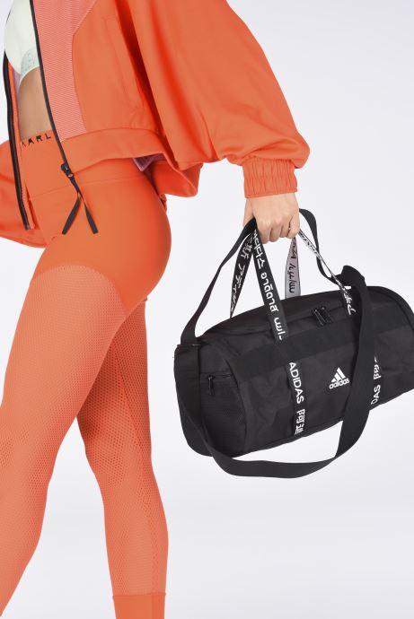 Sporttaschen adidas performance 4Athlts Duf Xs schwarz ansicht von unten / tasche getragen