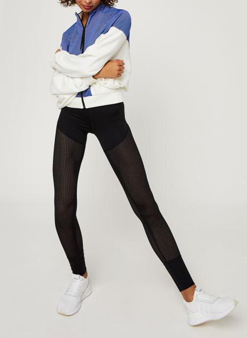 Vêtements adidas performance Cover Up Blanc vue bas / vue portée sac