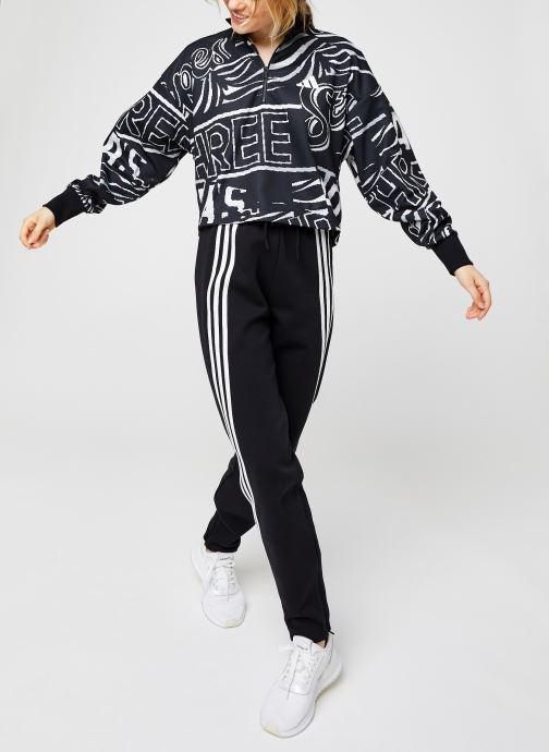 Vêtements adidas performance W Ur Halfzip Noir vue bas / vue portée sac