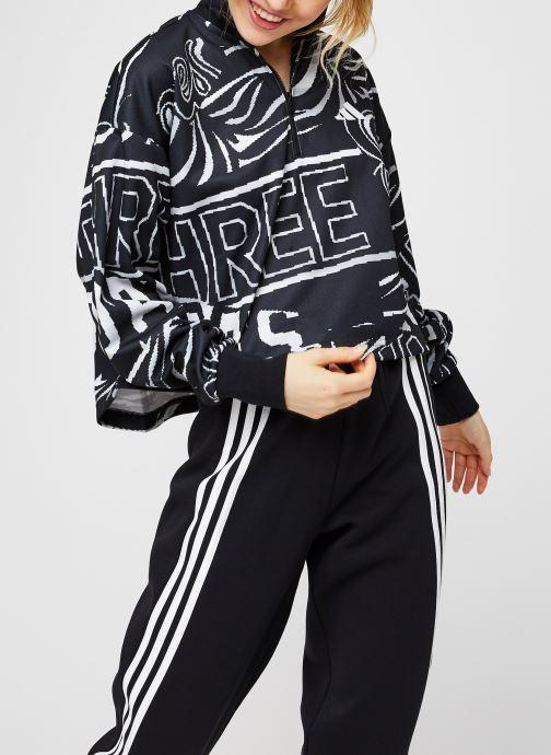 Vêtements adidas performance W Ur Halfzip Noir vue droite