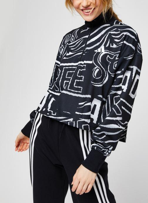 Vêtements adidas performance W Ur Halfzip Noir vue détail/paire