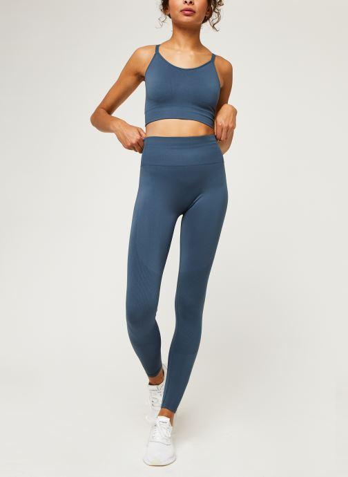 Vêtements adidas performance Seamless Bra Bleu vue bas / vue portée sac
