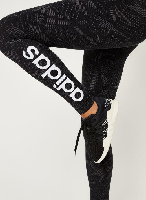 Vêtements adidas performance W E Aop Tig Noir vue face