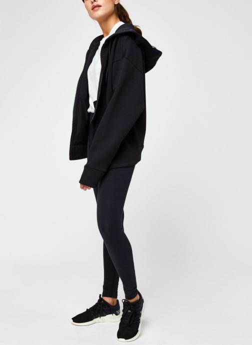 Vêtements adidas performance W S2Ldn Fz Hd Noir vue bas / vue portée sac