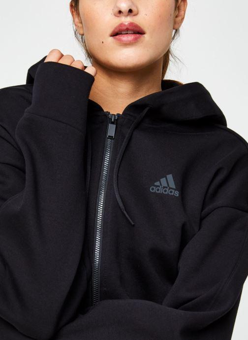 Vêtements adidas performance W S2Ldn Fz Hd Noir vue face