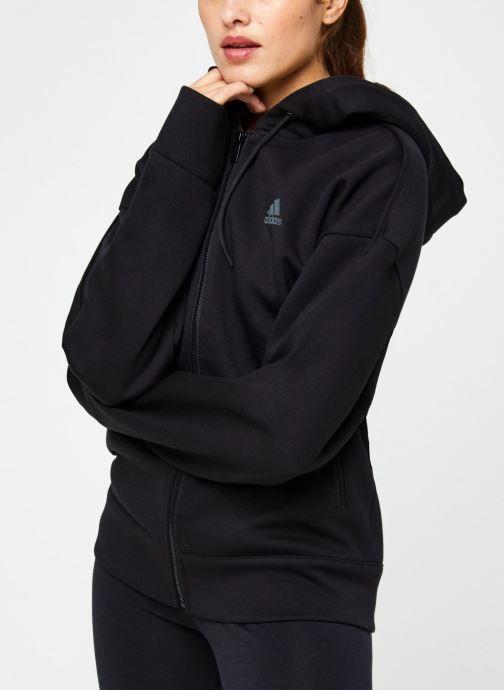 Vêtements adidas performance W S2Ldn Fz Hd Noir vue droite
