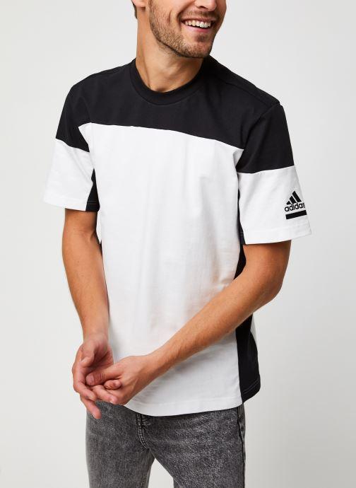 Vêtements adidas performance Zne Tee Blanc vue droite