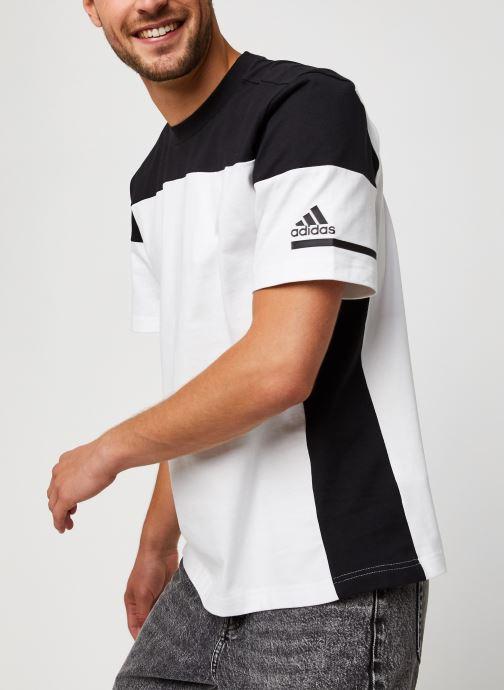 Vêtements adidas performance Zne Tee Blanc vue détail/paire