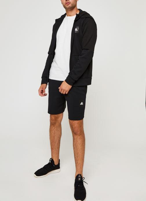 Vêtements adidas performance Mhs Short Sta Noir vue bas / vue portée sac