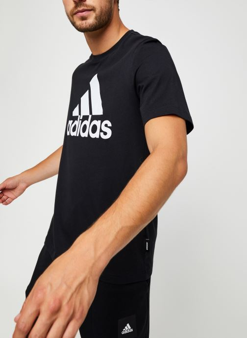 Vêtements adidas performance Mh Bos Tee Noir vue détail/paire