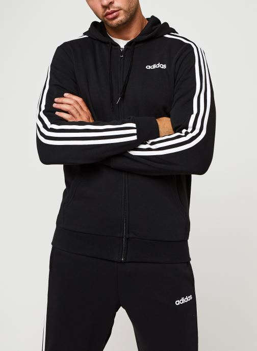 Vêtements adidas performance E 3S Fz Ft Noir vue droite