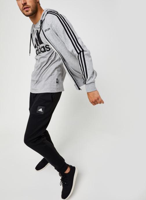 Vêtements adidas performance E 3S Fz Ft Gris vue bas / vue portée sac