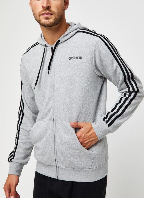 Vêtements adidas performance E 3S Fz Ft Gris vue droite