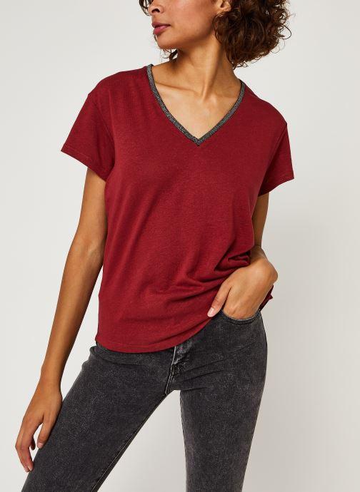 Vêtements IKKS Women Teeshirt Br10015 Bordeaux vue droite