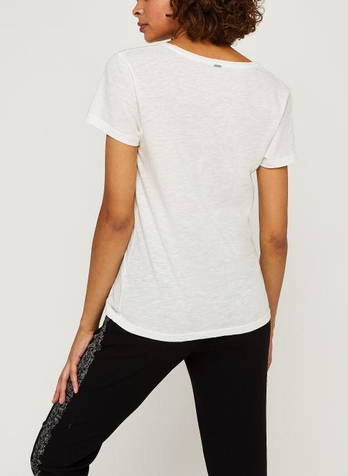 Vêtements IKKS Women Teeshirt Br10035 Blanc vue portées chaussures