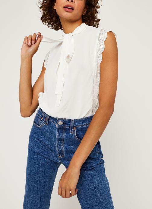 Vêtements IKKS Women Top Br11025 Blanc vue détail/paire