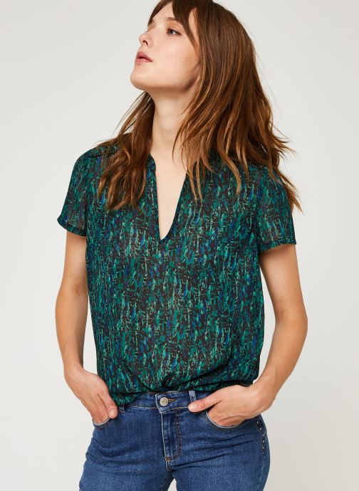 Vêtements IKKS Women Top Br11055 Vert vue détail/paire