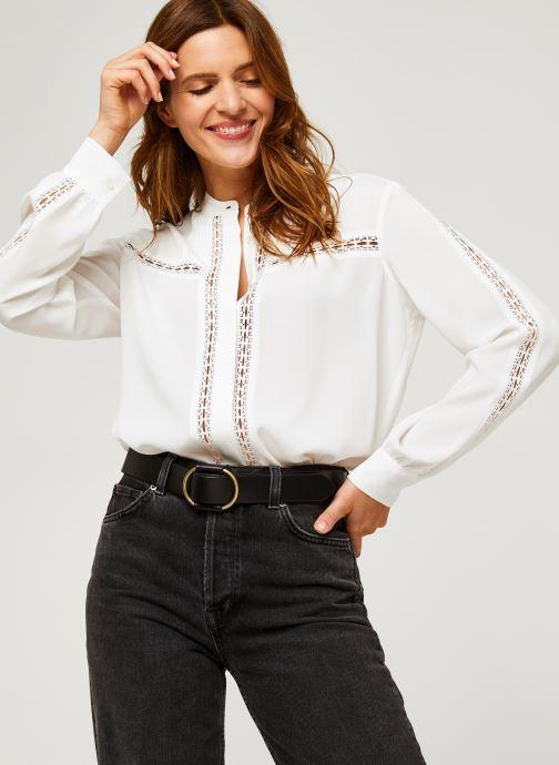 Vêtements IKKS Women Blouse Br13005 Blanc vue détail/paire