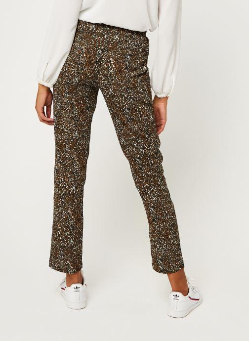 Vêtements IKKS Women Pantalon Br22005 Vert vue portées chaussures