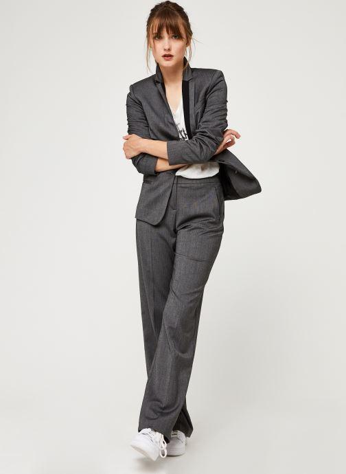 Vêtements IKKS Women Pantalon Br22015 Gris vue bas / vue portée sac