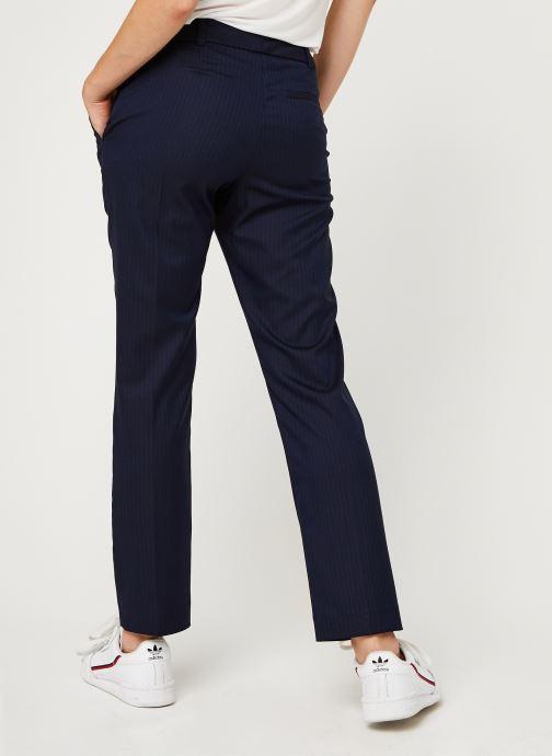 Vêtements IKKS Women Pantalon Br22025 Bleu vue portées chaussures
