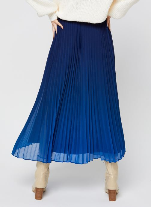 Vêtements IKKS Women Jupe Br27045 Bleu vue portées chaussures