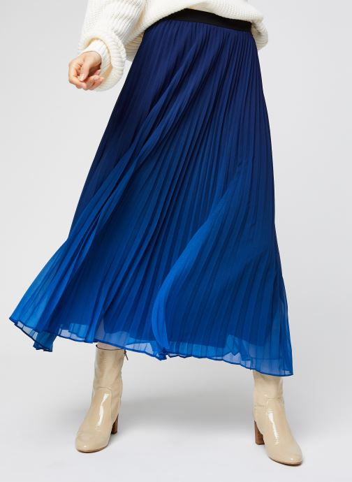 Vêtements IKKS Women Jupe Br27045 Bleu vue détail/paire