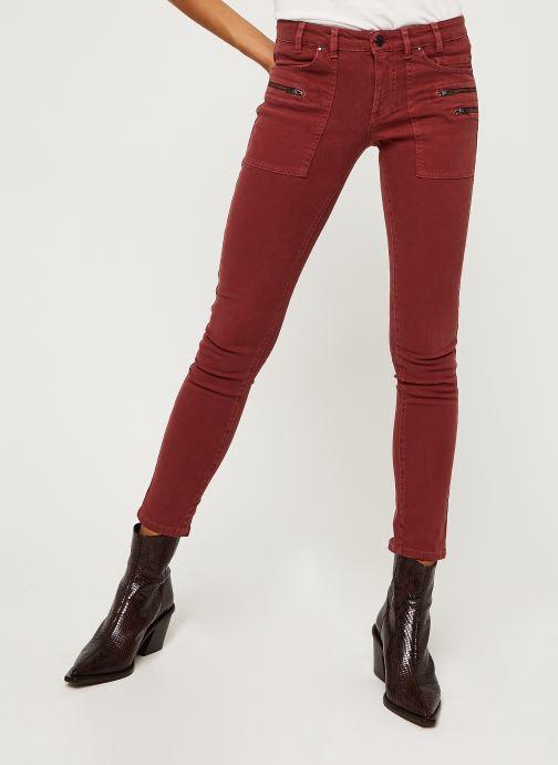 Vêtements IKKS Women Jean Br29015 Rouge vue détail/paire