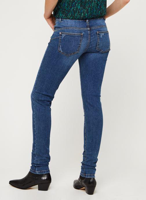 Vêtements IKKS Women Jean Br29025 Bleu vue portées chaussures