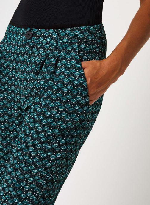 Vêtements IKKS Women Pantalon Br22145 Vert vue face
