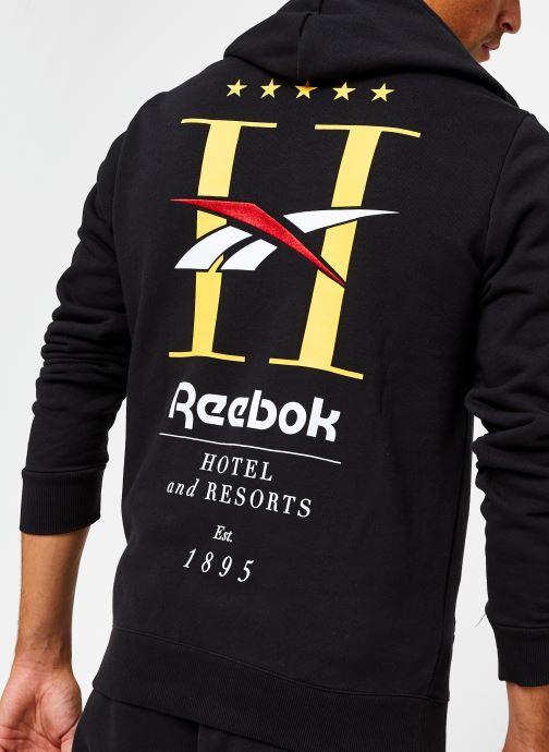 Vêtements Reebok Cl Gp Hotel Hoodie Noir vue face