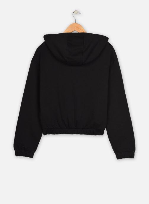 Kleding Reebok Qqr Crop Hoodie Zwart model