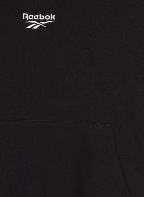 Vêtements Reebok Qqr Crop Hoodie Noir vue face