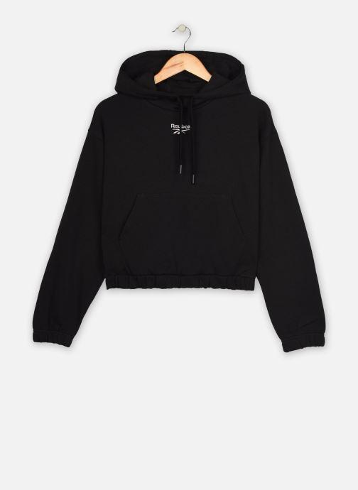 Kleding Reebok Qqr Crop Hoodie Zwart detail