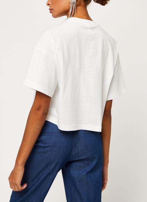 Vêtements Reebok Qqr Cropped Tee Blanc vue portées chaussures