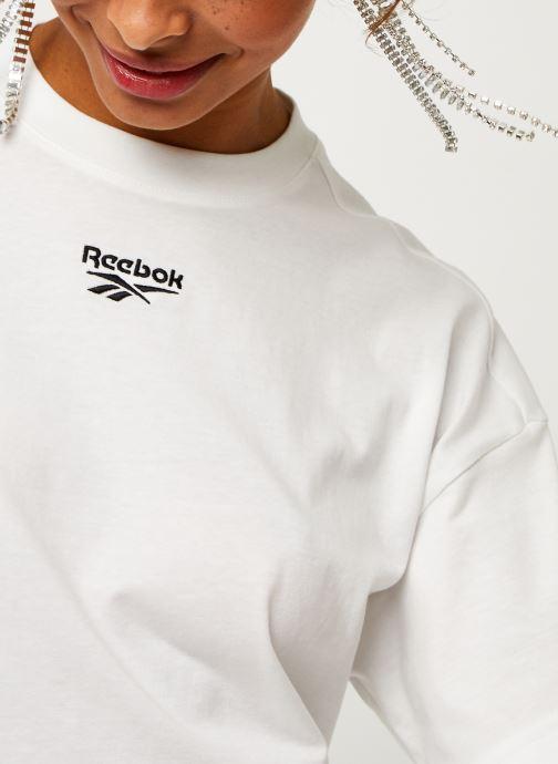 Vêtements Reebok Qqr Cropped Tee Blanc vue face