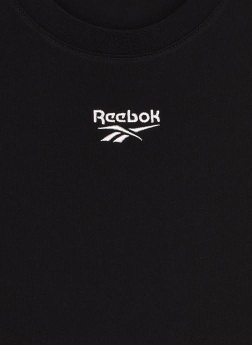 Kleding Reebok Qqr Cropped Tee Zwart voorkant